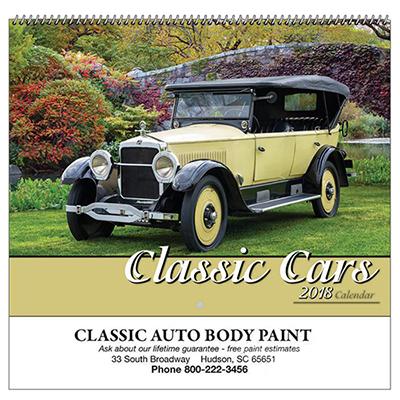 classic cars spiral wall appt calendar