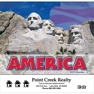 america! wall calendar - stapled