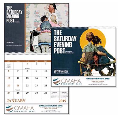 saturday evening post norman rockwell calendar