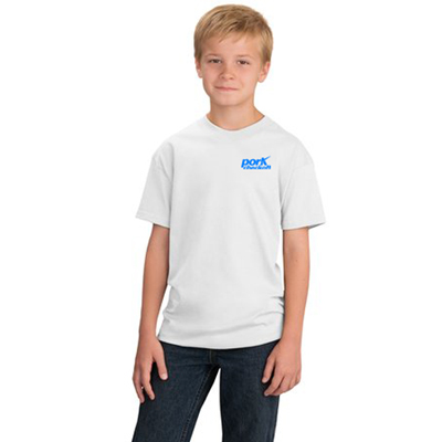 port & company youth t-shirt - white