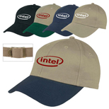 Custom 6-Panel Twill Cap - 6-Panel Twill Cap, Promo Hats