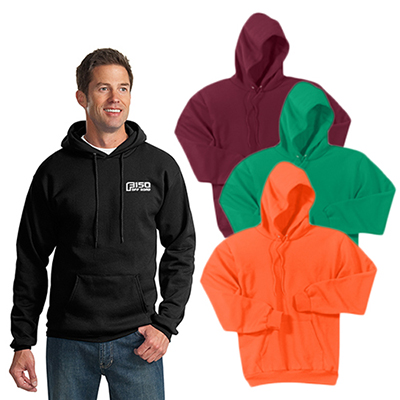 port & company® - essential fleece pullover hooded sweatshirt (color)