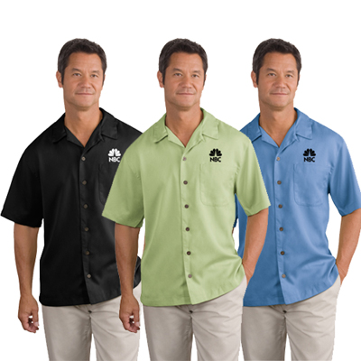 logoed Port Authority men's casual shirt